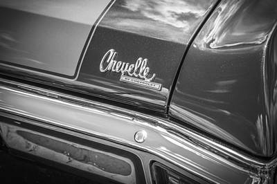V8 Chevelle Photograph - 1970 Chevy Chevelle 454 Ss Bw  by Rich Franco