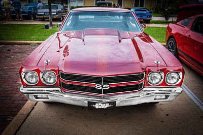 1970 Chevy Chevelle 454 Ss Painted  Art Print by Rich Franco