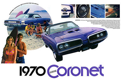 1970 Dodge Coronet Super Bee Art Print by Digital Repro Depot