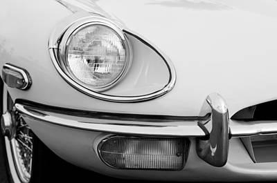 1970 Jaguar Xk Type-e Headlight Print by Jill Reger