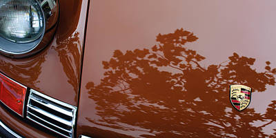 Photograph - 1970 Porsche 911 S 2.2 Coupe Hood Emblem by Jill Reger