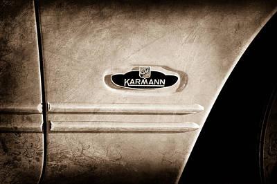 Karmann Photograph - 1970 Volkswagen Vw Karmann Ghia Emblem by Jill Reger
