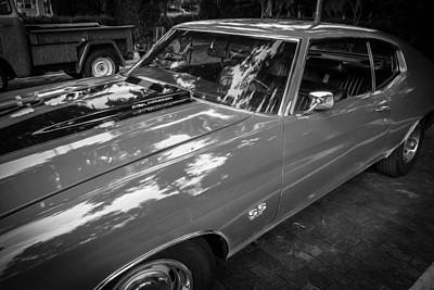 1971 Chevy Chevelle 454 Ss Painted Bw    Art Print by Rich Franco