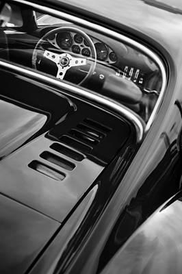 Photograph - 1971 Ferrari Dino 246 Gt Steering Wheel Emblem by Jill Reger