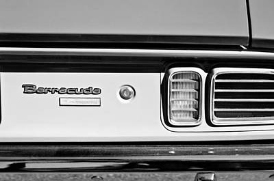 1971 Plymouth Barracuda Convertible 318 Ci Taillight Emblem Art Print