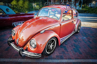 Photograph - 1971 Volkswagen Beetle Painted  by Rich Franco