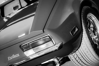 Photograph - 1972 Detomaso Pantera Taillight Emblem by Jill Reger
