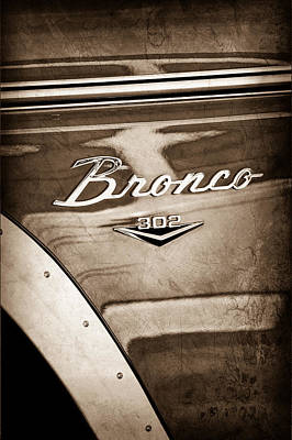 1972 Ford Bronco Emblem Art Print by Jill Reger