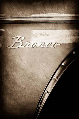 1973 Ford Bronco Custom 2 Door Emblem Art Print by Jill Reger