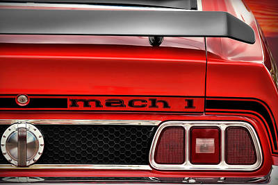 Photograph - 1973 Ford Mustang Mach 1 by Gordon Dean II