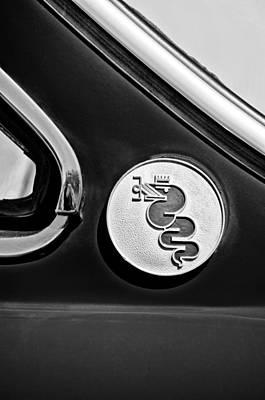 Alfa Romeo Gtv Photograph - 1974 Alfa Romeo Gtv Emblem by Jill Reger