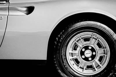 1974 Photograph - 1974 Ferrari Dino Targa Gts Wheel Emblem by Jill Reger
