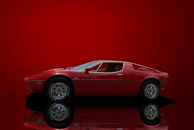 1975 Maserati Merak Art Print