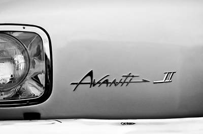 Headlight Photograph - 1978 Avanti II Headlight Emblem by Jill Reger