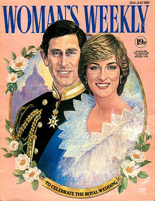 Princess Diana Photograph - 1980s Uk Womans Weekly Magazine Cover by The Advertising Archives