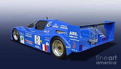 1983 Sauber C6 Group C Race Car Art Print by Tad Gage