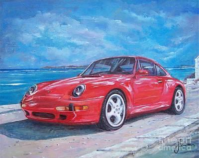Painting - 1997 Porsche Carrera S by Sinisa Saratlic