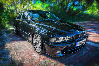 Bmw Racing Car Photograph - 1999 Bmw 528i Sports Car Painted  by Rich Franco