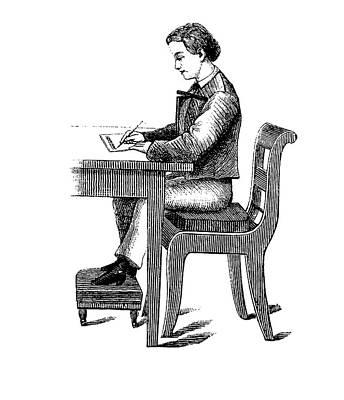 19th Century School Desk Back Support Art Print by Bildagentur-online/tschanz