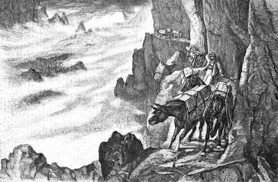 Donkey Photograph - 19th Century Smugglers by Bildagentur-online/tschanz
