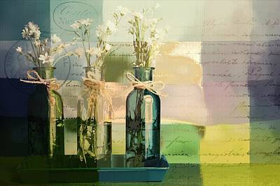 1-2-3 Bottles - J091112137 Art Print by Variance Collections
