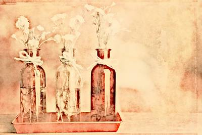 1-2-3 Bottles - R9t2b Art Print by Variance Collections