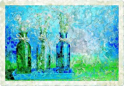 1-2-3 Bottles - S13ast Art Print by Variance Collections