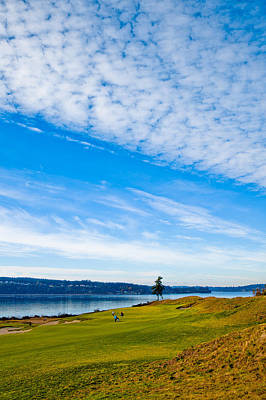 Mountain Landscape - #2 at Chambers Bay Golf Course - Location of the 2015 U.S. Open Tournament by David Patterson
