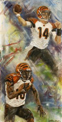 Sports Painting - 1-2 by Josh Hertzenberg