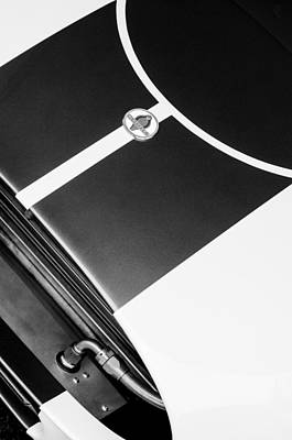 2001 Photograph - 2001 Shelby Cobra Replica Hood Emblem by Jill Reger