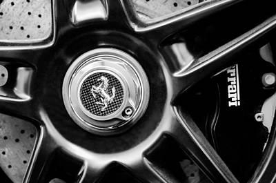 2005 Photograph - 2005 Ferrari Fxx Evoluzione Wheel Rim Emblem by Jill Reger