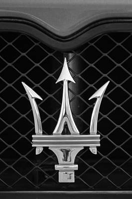 Images Of Cars Photograph - 2005 Maserati Gt Coupe Corsa Emblem by Jill Reger
