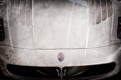 2005 Photograph - 2005 Maserati Mc12 Hood Ornament by Jill Reger