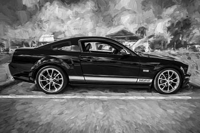 Photograph - 2007 Ford Mustang Shelby Gt Painted Bw by Rich Franco