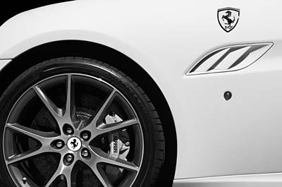 2010 Ferrari California Wheel Emblem Art Print by Jill Reger