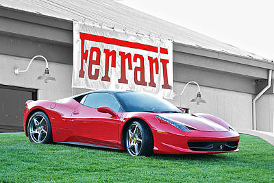 Winter Animals Rights Managed Images - 2012 Ferrari F458 Italia Royalty-Free Image by Dave Koontz
