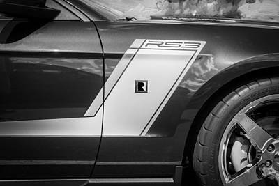 Photograph - 2012 Ford Shelby Mustang Roush Stage 3 Painted Bw   by Rich Franco