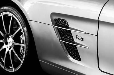 Supercar Photograph - 2012 Mercedes-benz Sls Gullwing Wheel by Jill Reger