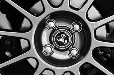 Photograph - 2013 Fiat Abarth Wheel Emblem by Jill Reger