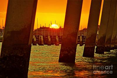 Photograph - 2013 First Sunset Under North Bridge 3 by Lynda Dawson-Youngclaus