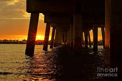 Photograph - 2013 First Sunset Under North Bridge by Lynda Dawson-Youngclaus