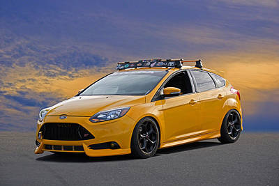 Recently Sold - Sports Royalty-Free and Rights-Managed Images - 2013 Ford Focus ST  by Dave Koontz