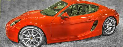 Hdr Photograph - 2014 Porsche Cayman S  by John Straton