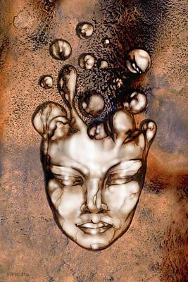 Ectoplasm Digital Art - 24x36 Slow Boil 014b by Dia T