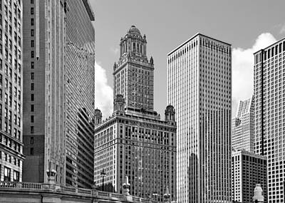 35 East Wacker Chicago - Jewelers Building Art Print