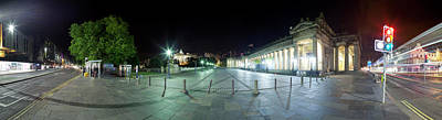 360 Degree View Of A City At Night Art Print by Panoramic Images