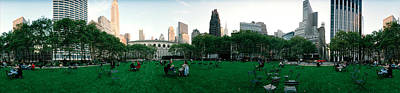 Bryant Park Photograph - 360 Degree View Of A Public Park by Panoramic Images