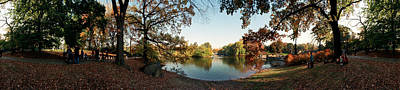 Fallen Leaf Photograph - 360 Degree View Of An Urban Park by Panoramic Images