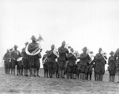 1918 Photograph - 369th Infantry Regiment Band by Underwood Archives