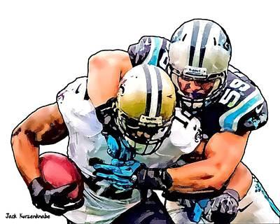 New Orleans Saints Drawings Digital Art - 388 by Jack K